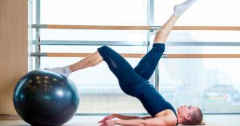 Pilates com bola - CLAM